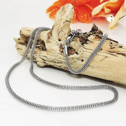 Halskette StrumpfHalskette Edelstahl 50cm