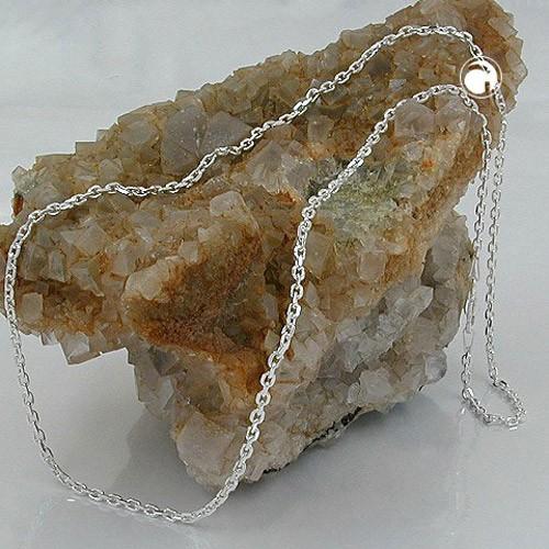 Halskette Anker 8x diamantiert 925 Sterlingsilber 50cm