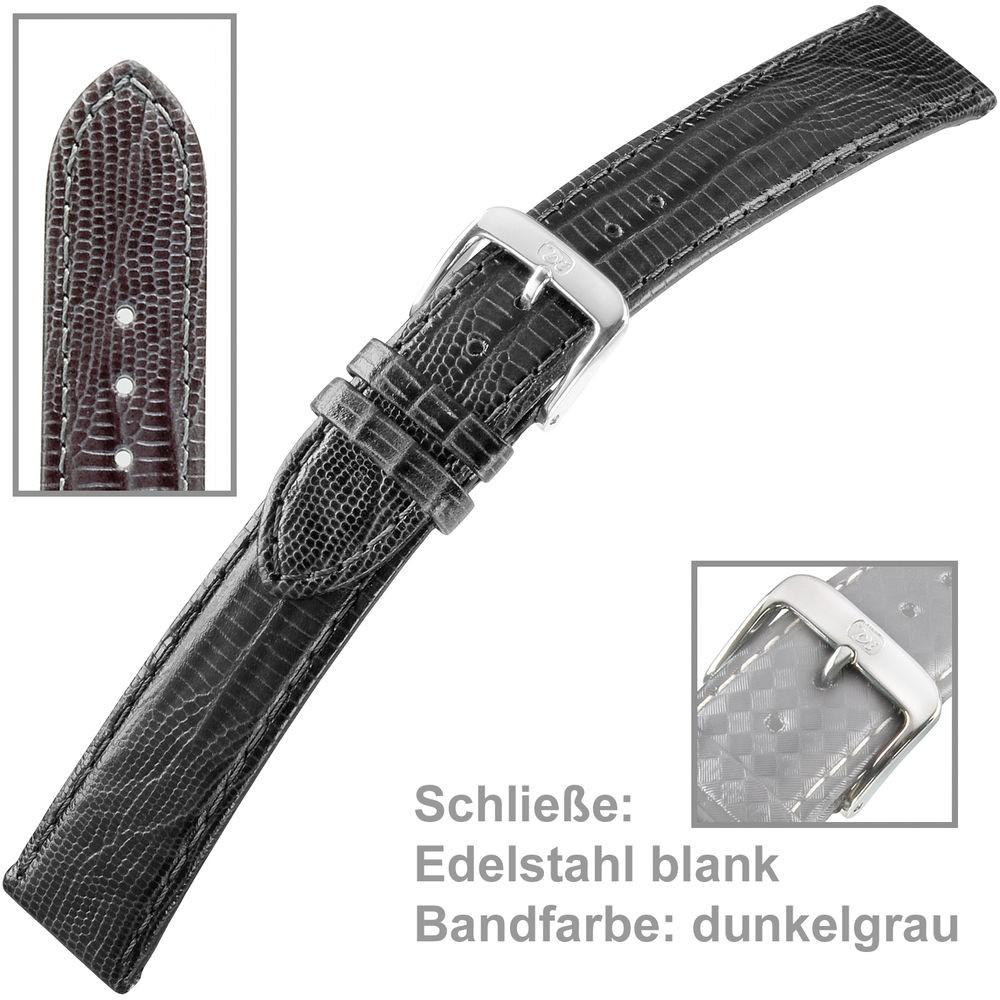 Uhrenarmband Ladies 16mm Teju-Eidechsprägung