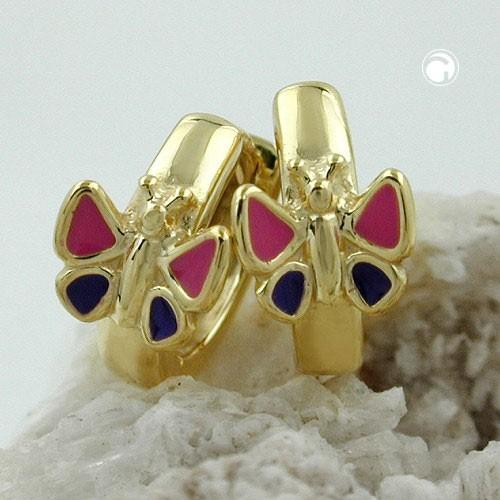 Creolen Ohrringe Schmetterling 375 Gold