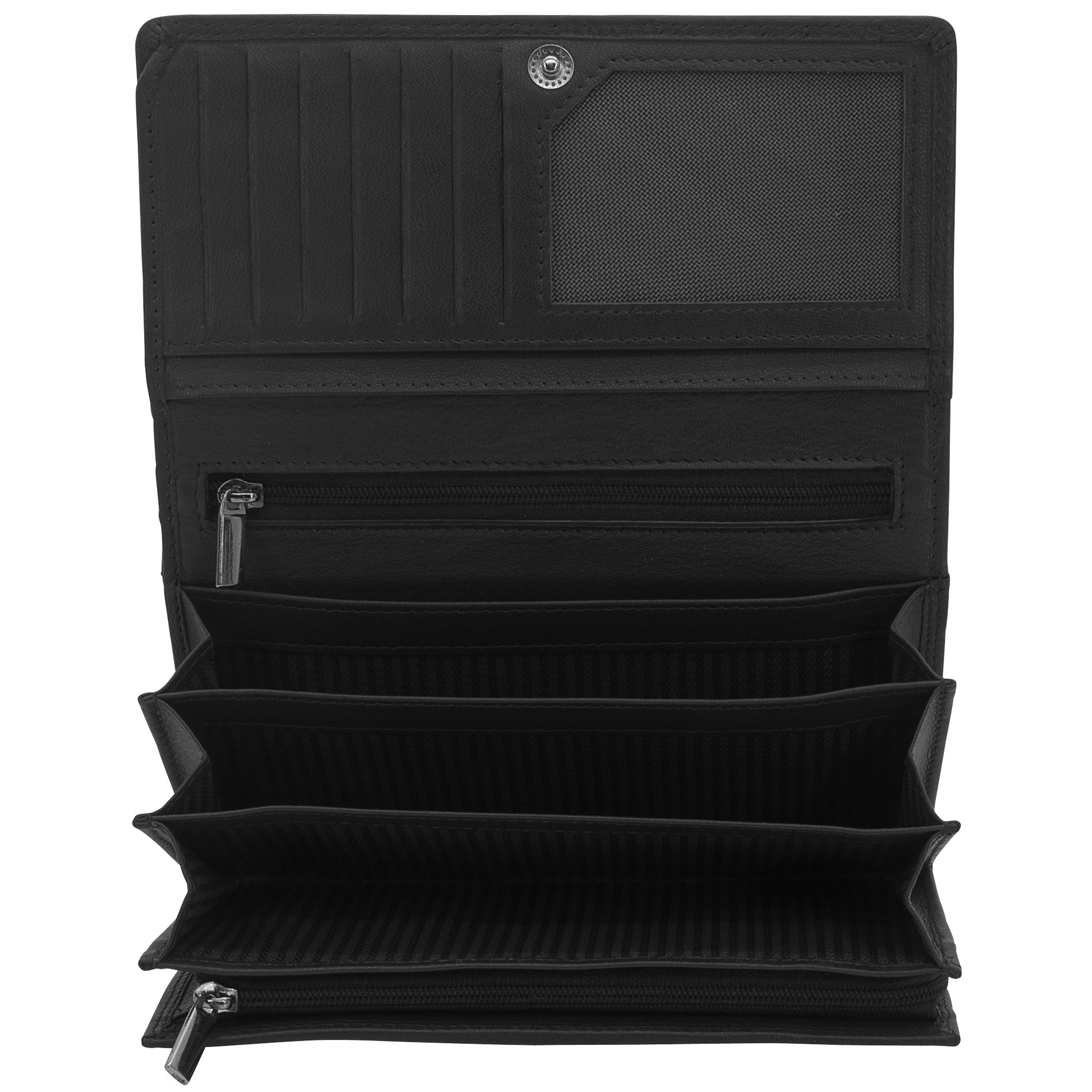 Geldbörse MANDALA Nappa Leder schwarz RFID Schutz