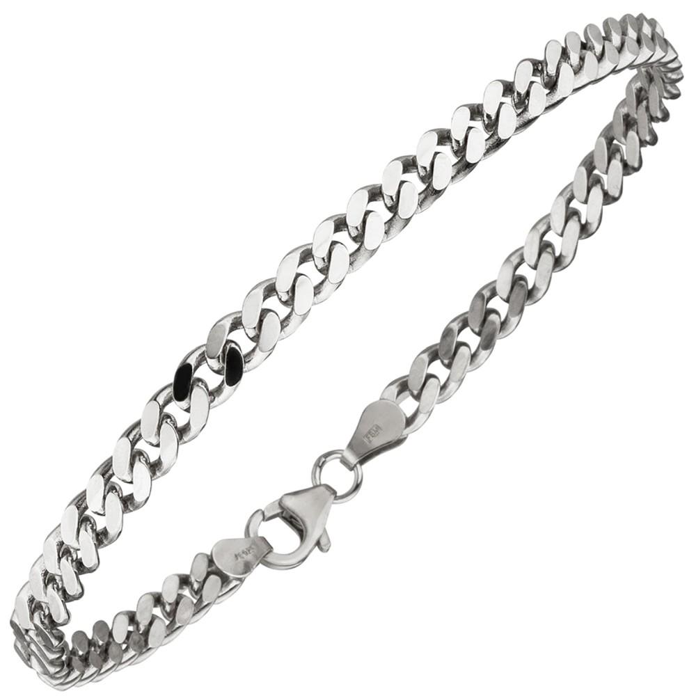Panzerarmband 925 Sterlingsilber 21cm Armband Silberarmband