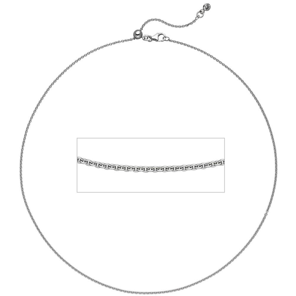 Ankerkette 925 Silber 1 Zirkonia 45cm Kette Halskette verkürzbar