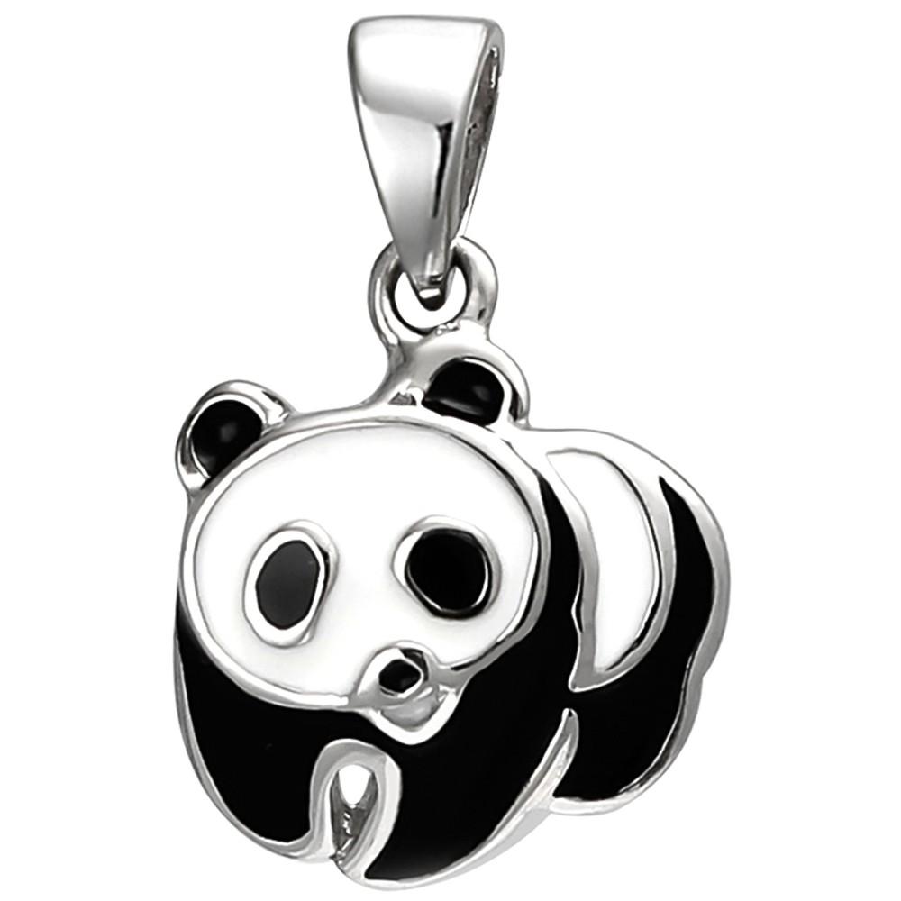 Kinder Anhänger Panda 925 Sterlingsilber Silberanhänger