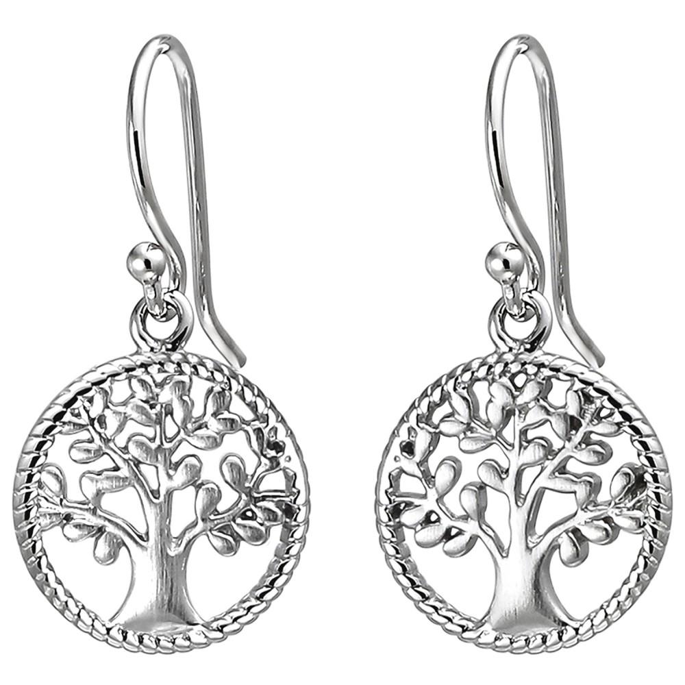 Ohrhänger Baum 925 Sterlingsilber Ohrringe Silberohrringe