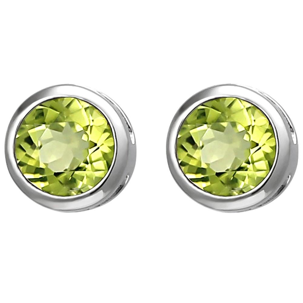 Ohrstecker 925 Sterlingsilber 2 Peridote grün Ohrringe