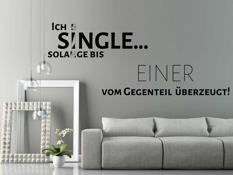 Ich bin Single...