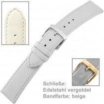 Uhrenarmband Ladies 16mm beige vergoldet