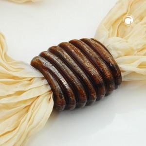 Tuchperle Spirale braun