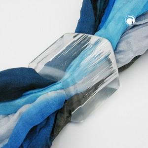 Tuchring Sechseck kristall-silber