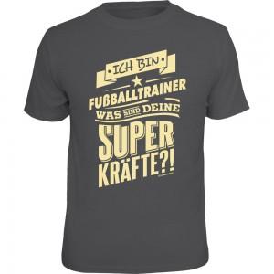 Fun T-Shirt - Superkräfte Fußballtrainer