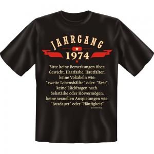 Fun T-Shirt - Jahrgang 74