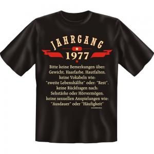 Fun T-Shirt - Jahrgang 77