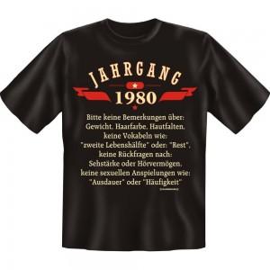 Fun T-Shirt - Jahrgang 80