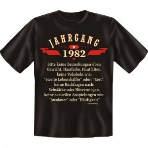Fun T-Shirt - Jahrgang 82