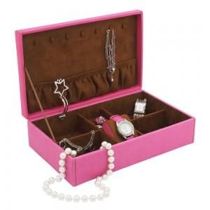 Schmuckkoffer BACCARA pink rosa Uhrenfach