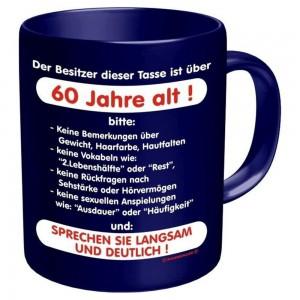 Kaffeebecher Tasse - 60 Jahre alt