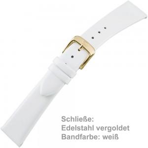 Uhrenarmband Ladies 18mm Lackleder weiß