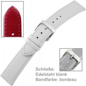 Uhrenarmband Ladies 18mm Kalbleder bordeau