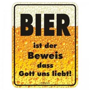 geprägtes Blechschild - Bier ist der Beweis