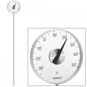 Gartenthermometer GRADO Edelstahl matt mit Erdspieß