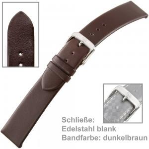 Uhrenarmband Men 18mm Kalbleder dunkelbraun waterproof