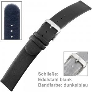 Uhrenarmband Ladies 18mm Softkalbleder blau