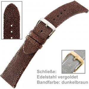 Uhrenarmband Ladies 16mm Perlrochen geschliffen