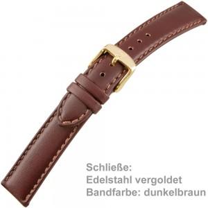 Uhrenarmband Men XL 18mm gegerbtes Sattelleder
