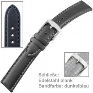 Uhrenarmband Men XL 20mm gegerbtes Sattelleder
