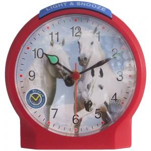 Wecker Kinderwecker Pferd rot leise Pferdewecker für Kinder