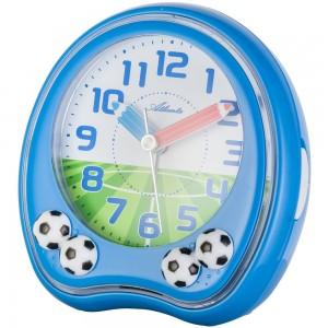 Wecker Kinderwecker Fußball blau Fußballwecker für Kinder