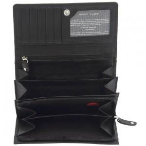 Geldbörse LADIES LINE Rind Nappa Leder schwarz RFID Schutz