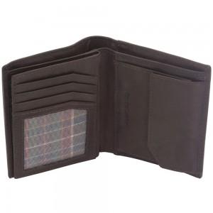 Geldbörse Leder braun RFID Schutz viele Fächer