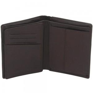 Geldbörse Leder braun dunkelbraun RFID Schutz