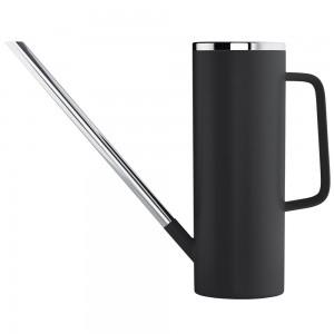 Gießkanne LIMBO Kunststoff schwarz mit Edelstahl kombiniert 1,5 L Inhalt