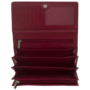 Geldbörse MANDALA Nappa Leder rot RFID Schutz