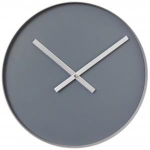 Blomus Wanduhr RIM Quarz Stahl mit Edelstahl matt Steel Gray