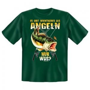 Fun T-Shirt Es gibt wichtigeres als Angeln