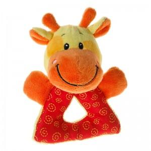 Mes Amis Baby Spielzeug Greifling mit Rassel Giraffe13cm