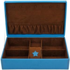 Schmuckkoffer BACCARA blau Uhrenfach