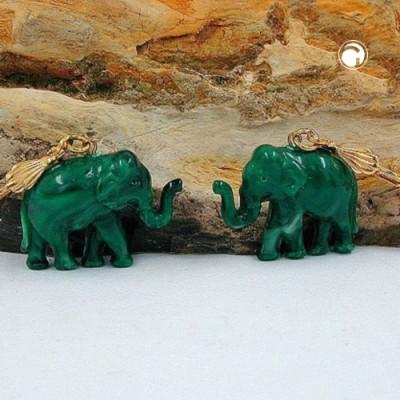 Ohrring Elefant mini grünton