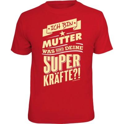 Fun T-Shirt - Superkräfte Mutter