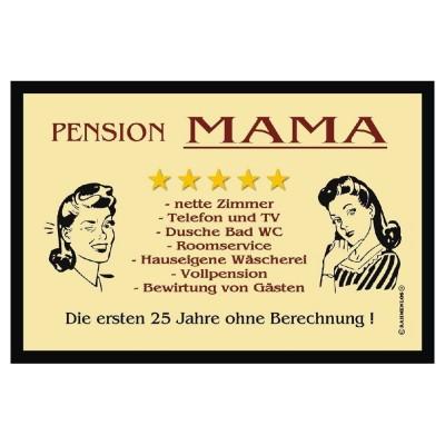 helle Fußmatte Türmatte Fußabtreter Pension Mama