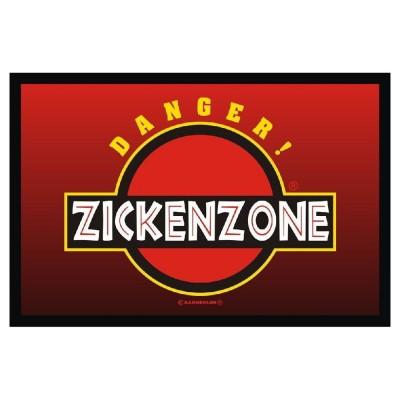 rote Fußmatte Türmatte Fußabtreter Danger Zickenzone