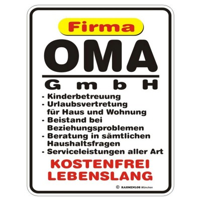 Magnetschild - Oma GmbH