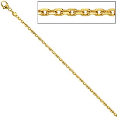 Ankerkette 585 Gelbgold diamantiert 1,6mm 40cm Gold Kette Halskette Goldkette