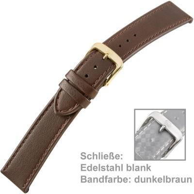 Uhrenarmband Men 18mm Kalbleder dunkelbraun