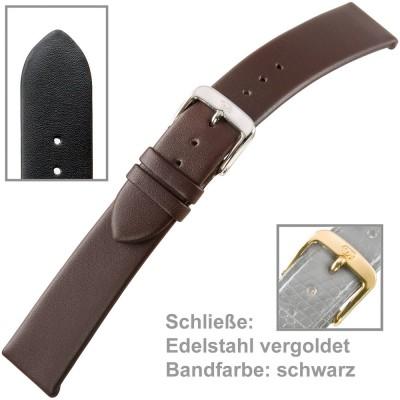 Uhrenarmband Men 18mm Kalbleder schwarz