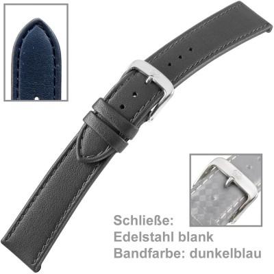Uhrenarmband Men 22mm Kalbleder dunkelblau